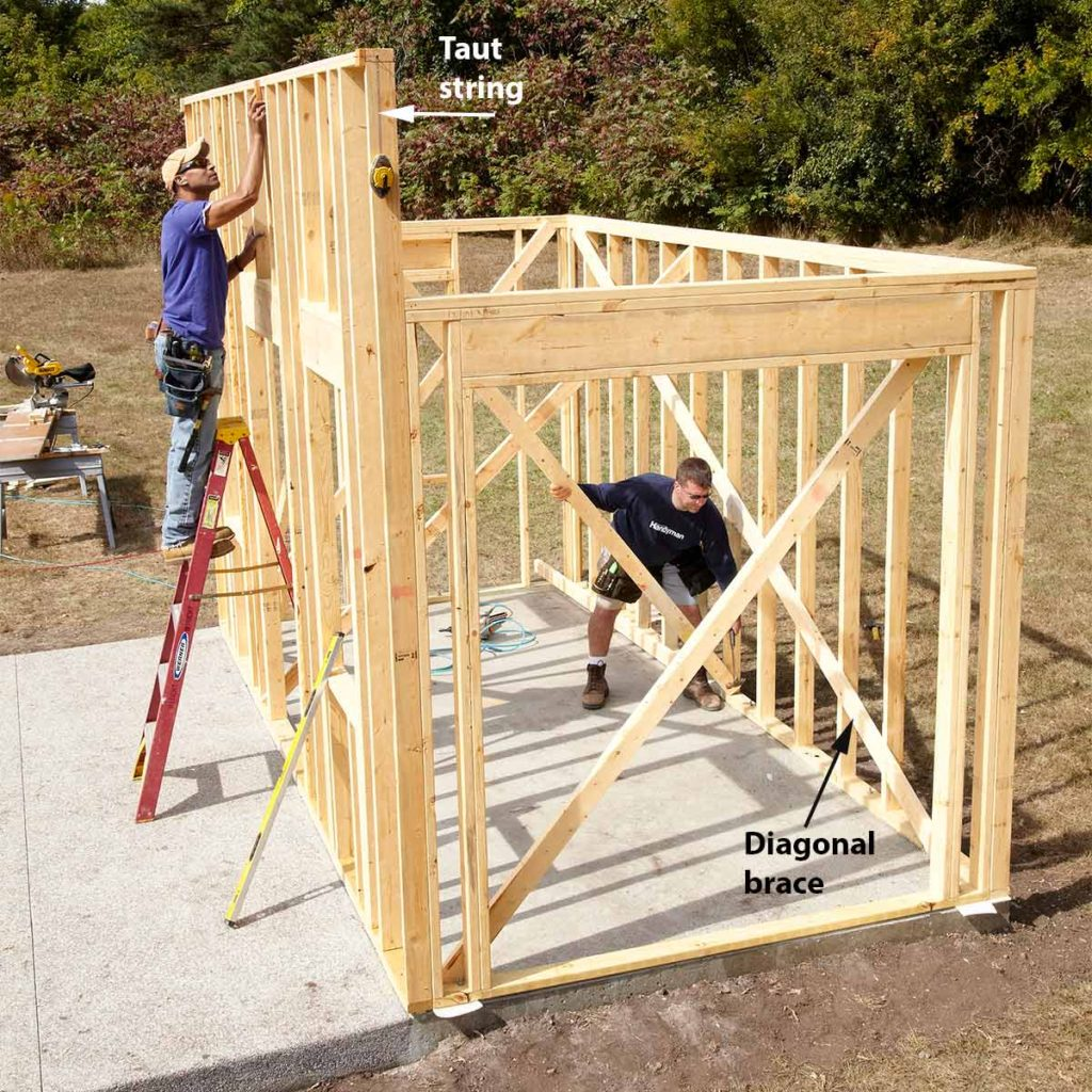 how to build a shed step by step
